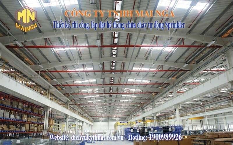 Dịch vụ kỹ thuật Thái Nguyên chuyên thiết kế thi công, lắp đặt hệ thống phòng cháy chữa cháy (PCCC), hệ thống chữa cháy tự động sprinkler