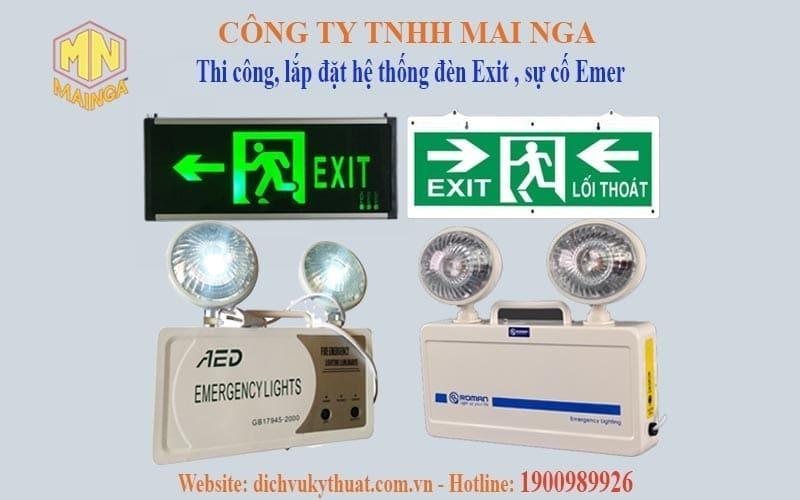 Dịch vụ kỹ thuật Thái Nguyên chuyên thiết kế thi công, lắp đặt hệ thống phòng cháy chữa cháy (PCCC), hệ thống Exit, chiếu sáng sự cố (EMER)