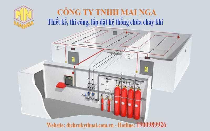 Dịch vụ kỹ thuật Thái Nguyên chuyên thiết kế thi công, lắp đặt hệ thống phòng cháy chữa cháy (PCCC), hệ thống chữa cháy khí